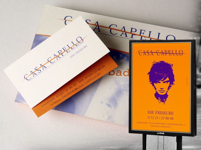 Casa Capello, Die Friseure // City Light Poster, Geschaeftsausstattung