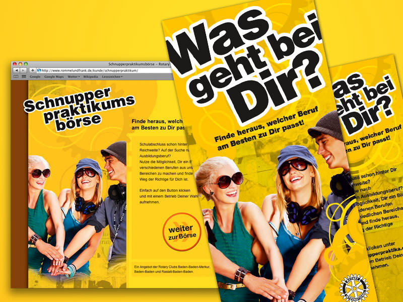 Rotary International, Schnupperpraktika.de // Web, Flyer